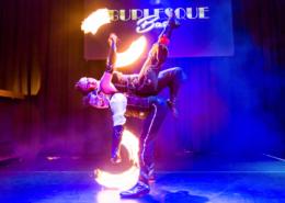 Feuerakrobatic Bühnenshow Burlesque Bash