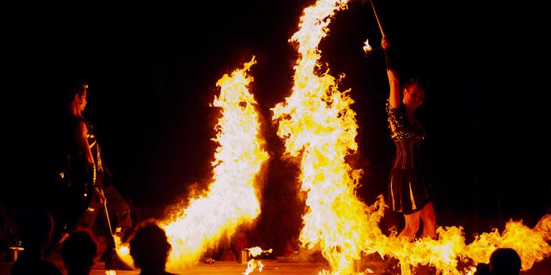 Feuershows für Events