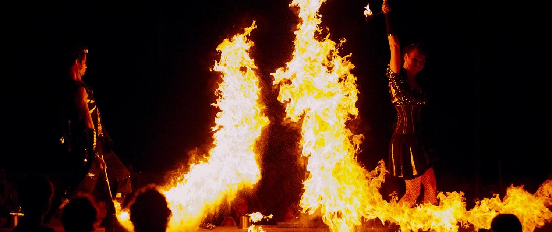 FeuershowKlunkerkranich