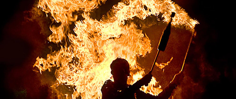 Hafeneröffung mit Feuershow und Pyrotechnik – Senftenberg